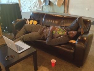 Sleeping on the job...